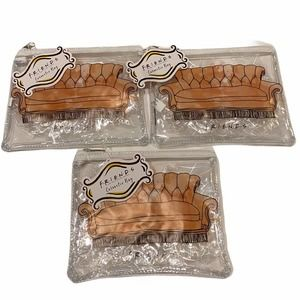 Friends clear cosmetic bags - set of 3 - NWT